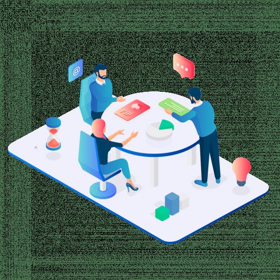 Team - ansatte - illustrasjon