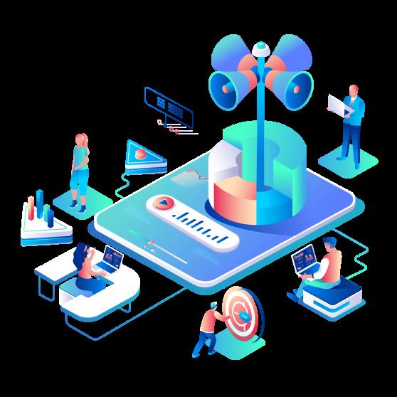 Digital markedsføring illustrasjon